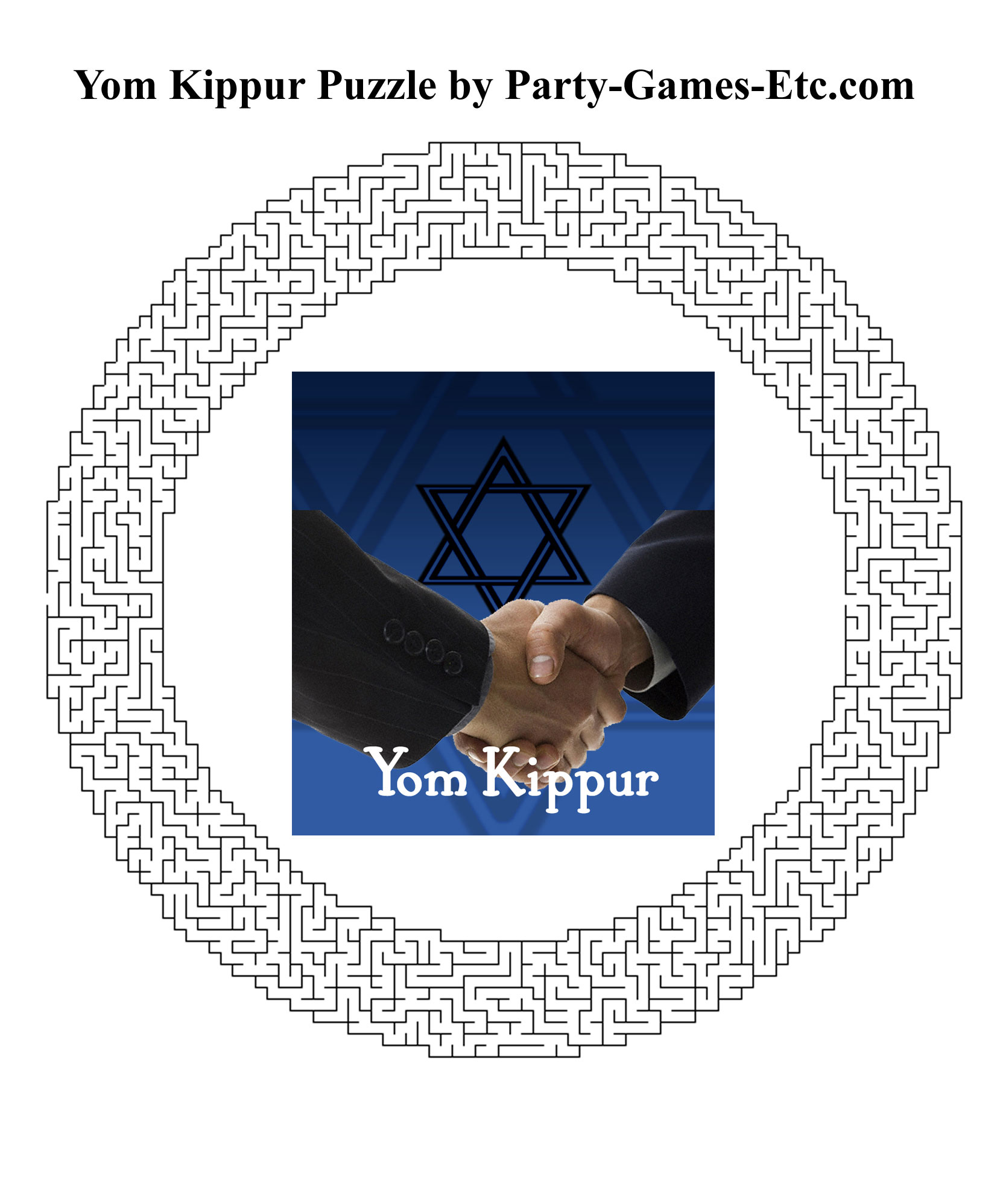Free Printable Yom Kippur Party Game and Pen and Paper Activity