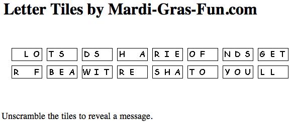 Free Printable Mardi Gras Puzzles