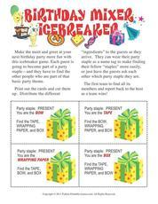 Printable Birthday Party Games