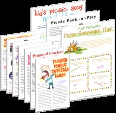 Printable Picnic Games for Graduaiton Parties