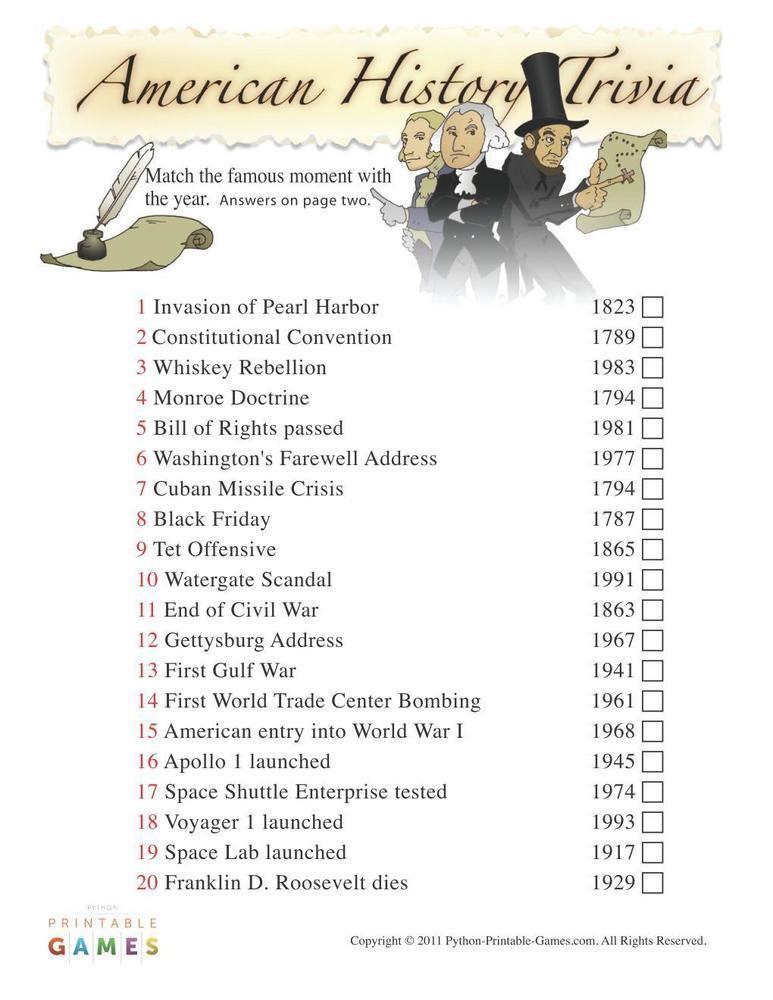 American Games: American History Trivia