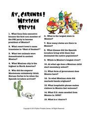 Cinco de Mayo Printable Games