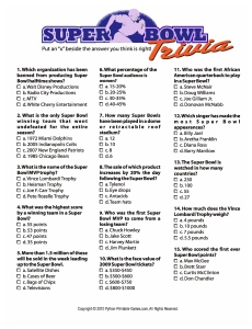 photo regarding Mardi Gras Trivia Quiz Printable identified as Printable Tremendous Bowl Social gathering Game titles